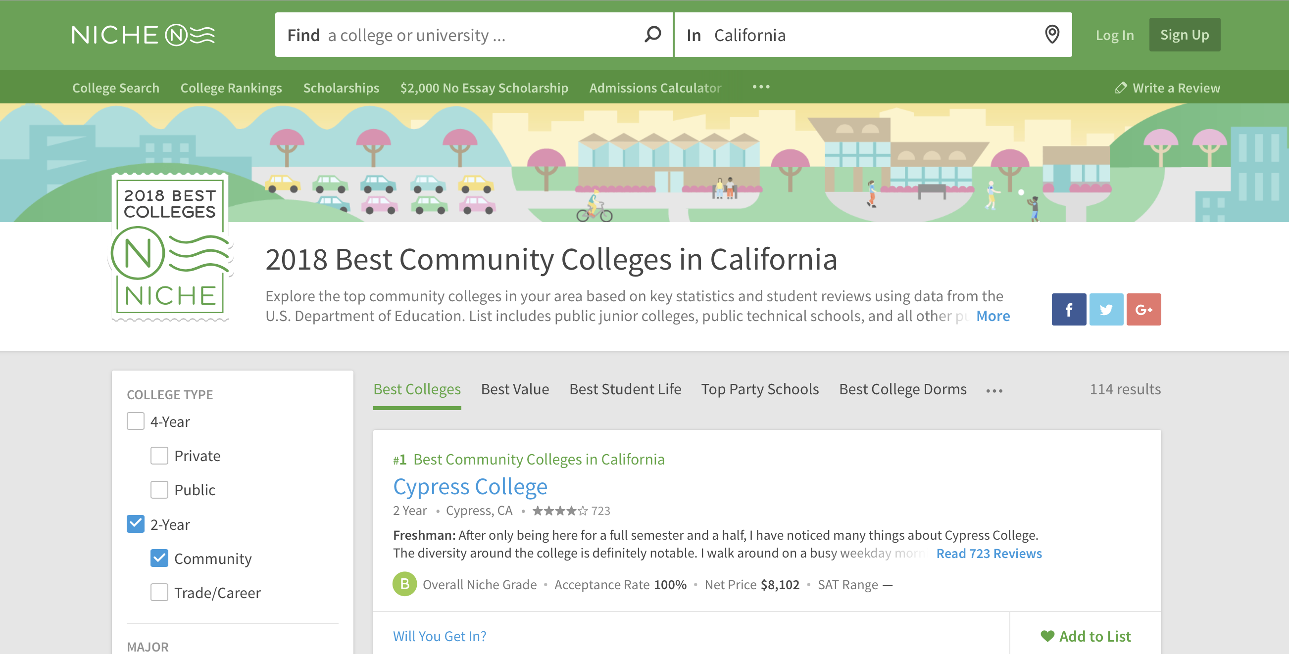 Cypress College — #1 2018 Best California Community Colleges — Niche.com