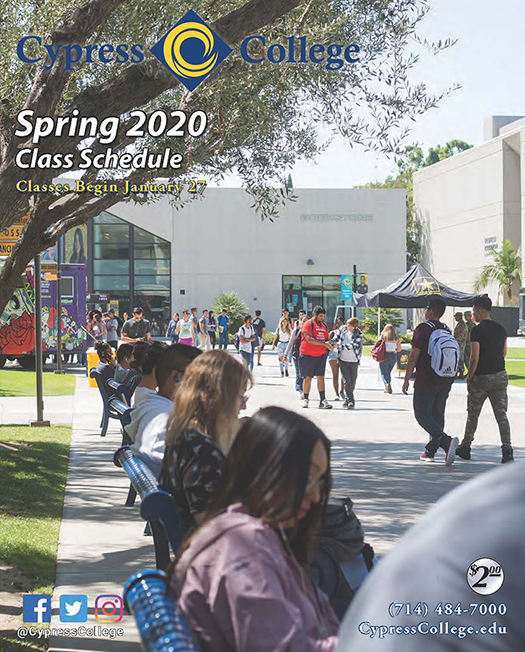 Csulb Schedule Of Classes Spring 2020.Schedule Of Classes And College Catalog Cypress College