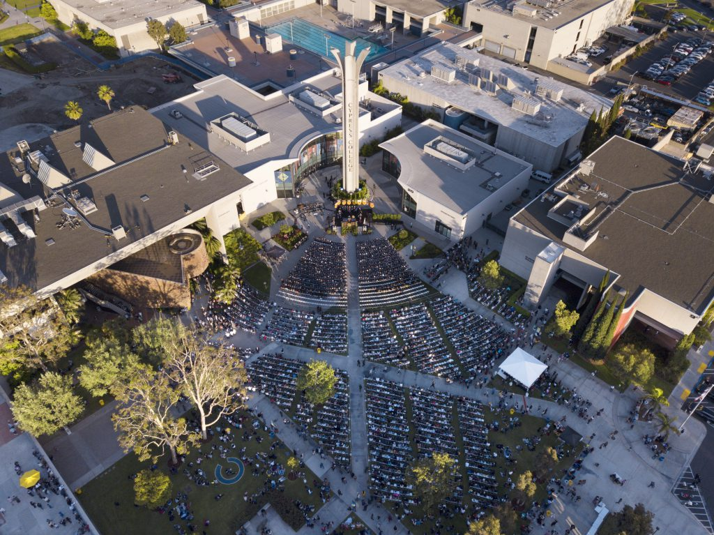 Commencement Aerial photo