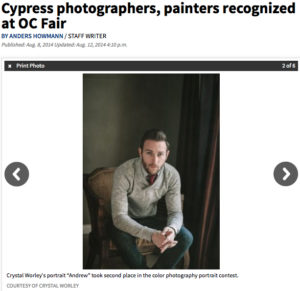 The Orange County Register published an article highlighting two Cypress College Photography students.